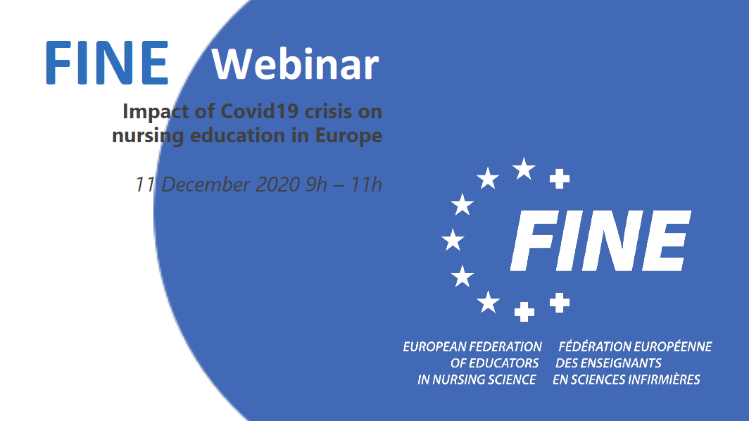 FINE Europe Webinar : « Impact of Covid19 crisis on nursing education in Europe » – Conclusions